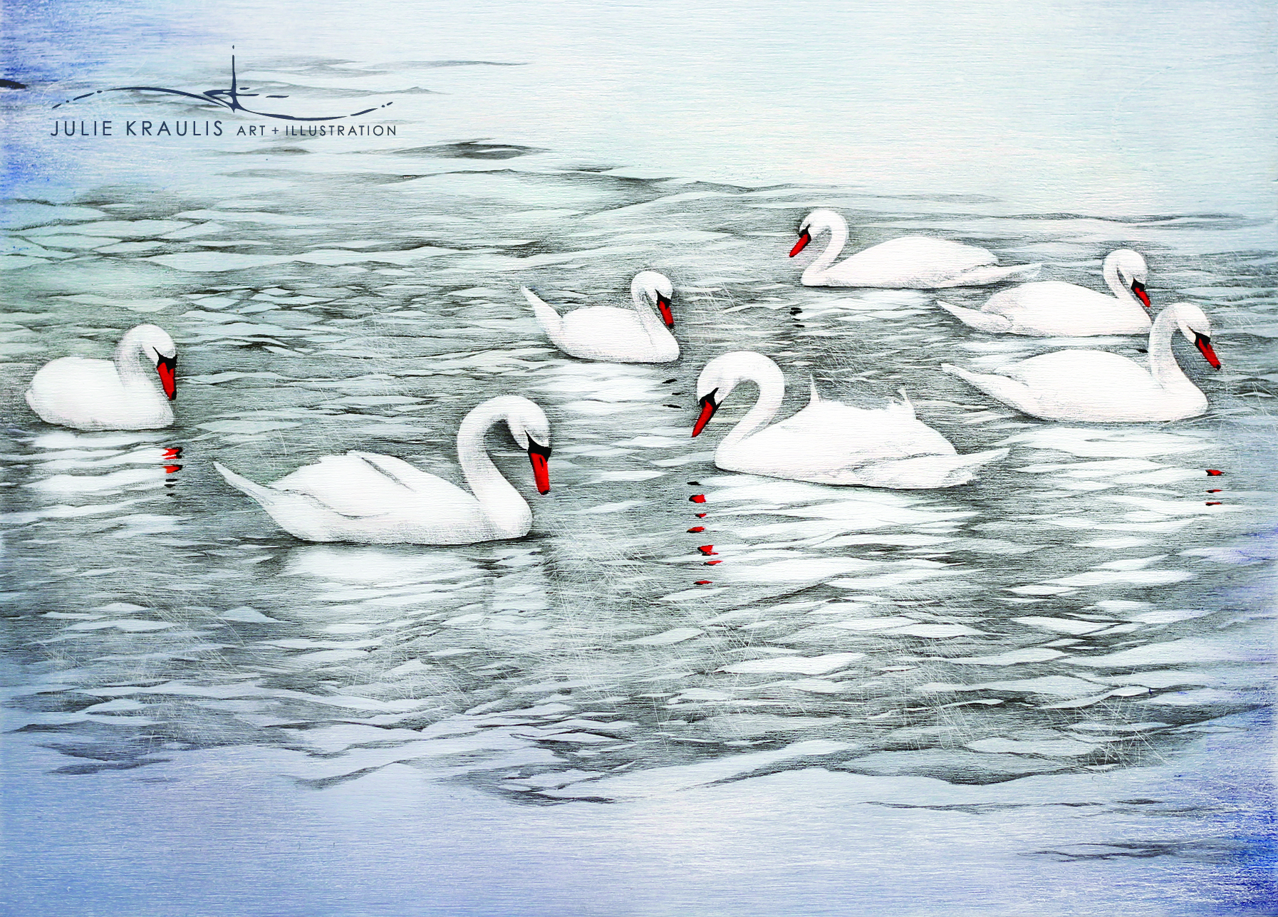 ... and a lovely holiday season! Seven Swans a Swimming, 12 Days
