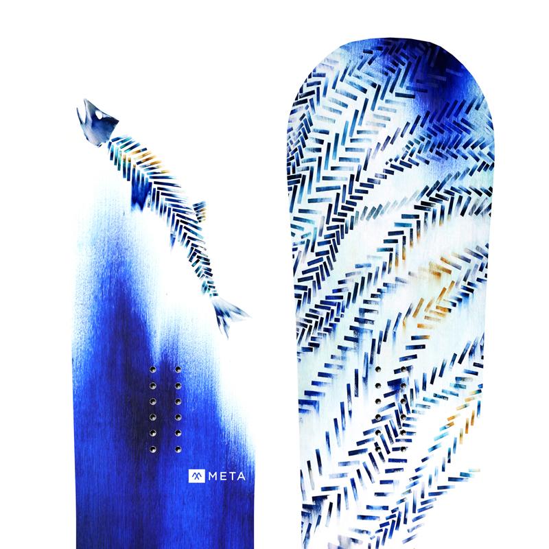 Inky Herringbone // Snowboard Design