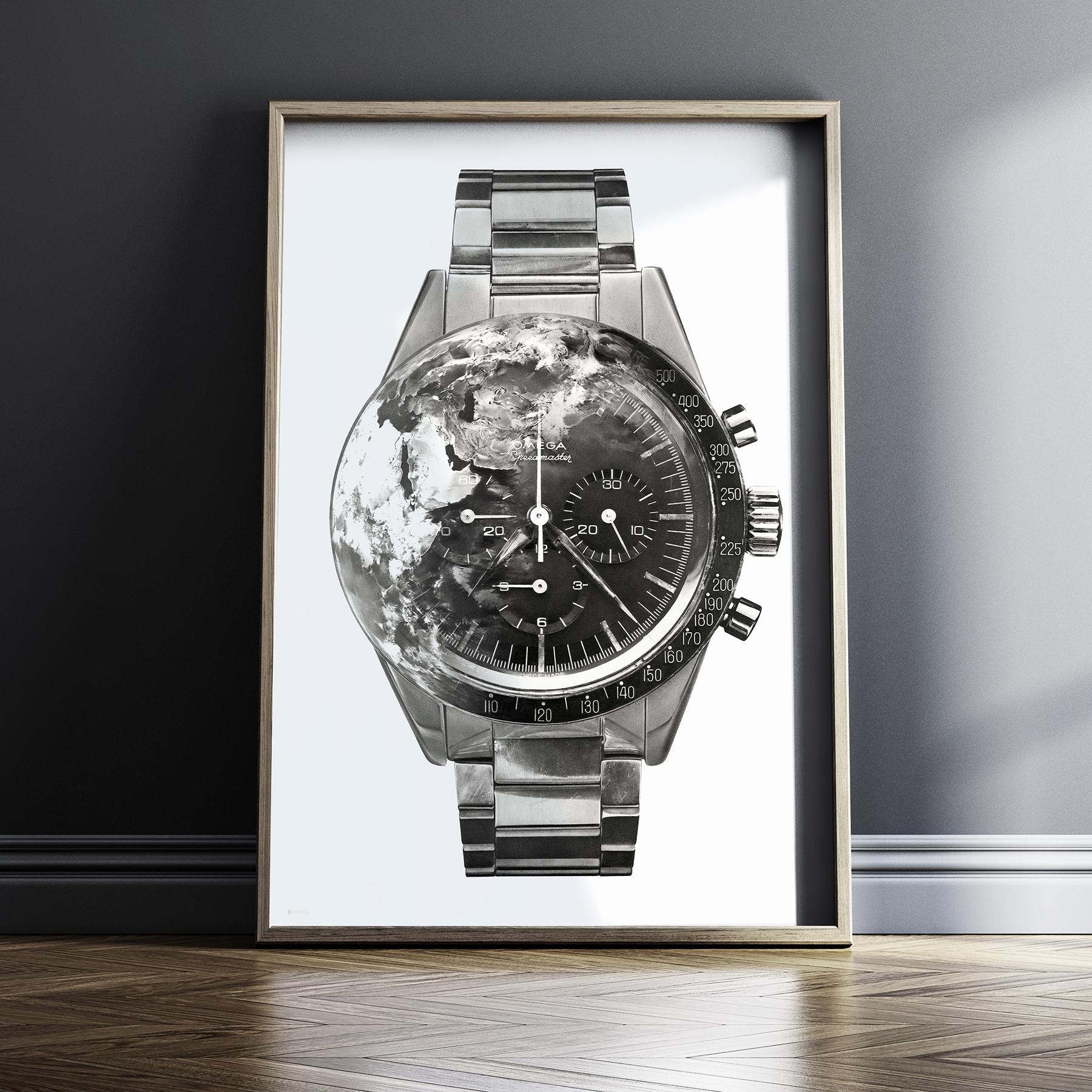 JulieKraulis-HorologicalArt-OmegaSpeedmasterCK2998-Print-Framed