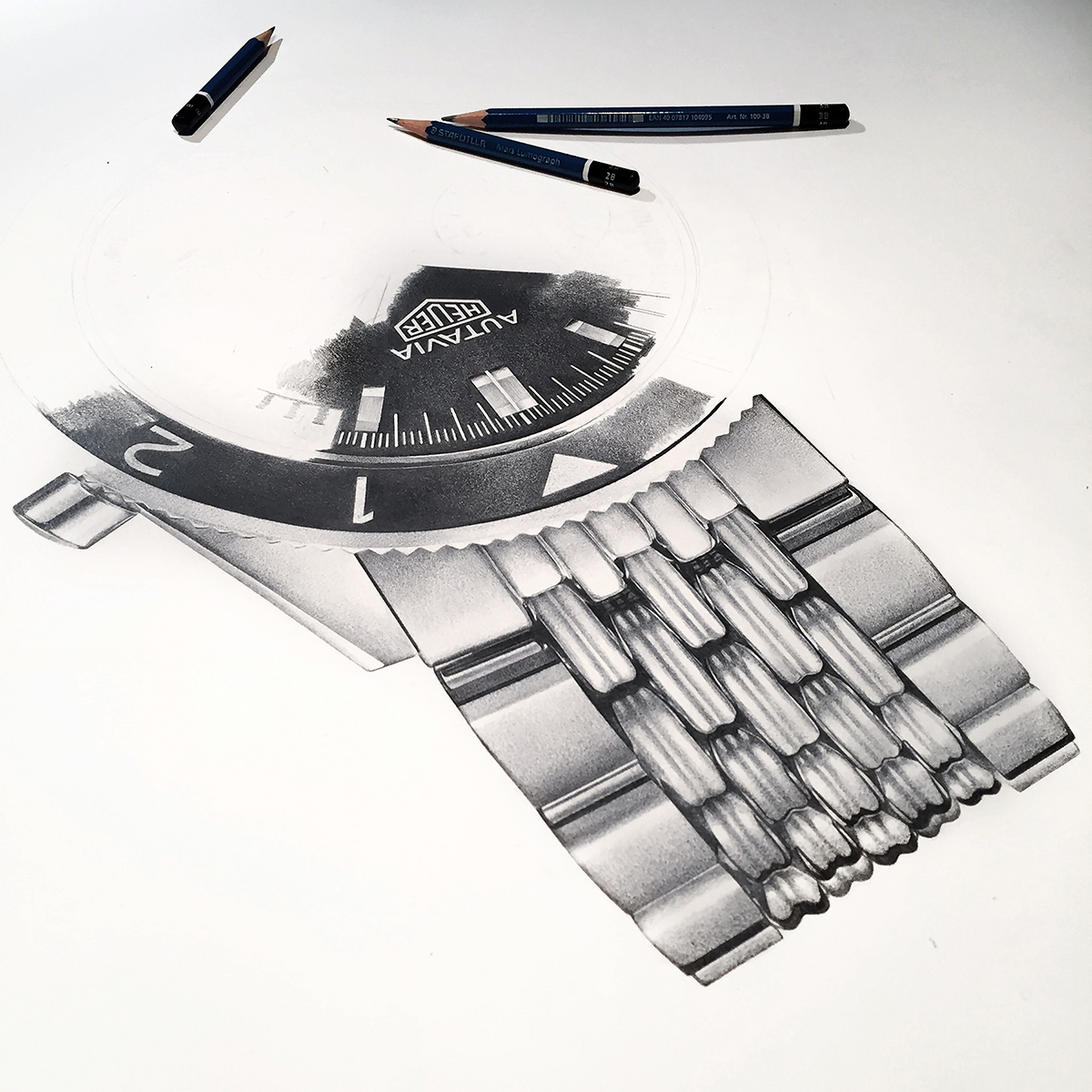 TAG Heuer Autavia Book Cover WIP