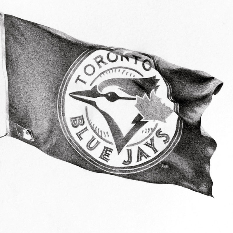 blue jays flag drawing